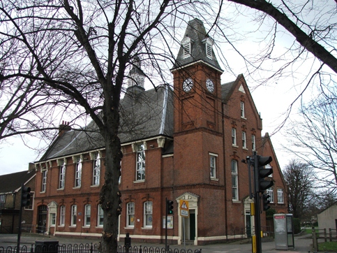 Vestry Hall building in Mitcham