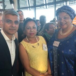 Sabitri & Pat with Sadiq Khan
